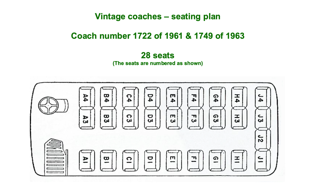 Coach seating plan